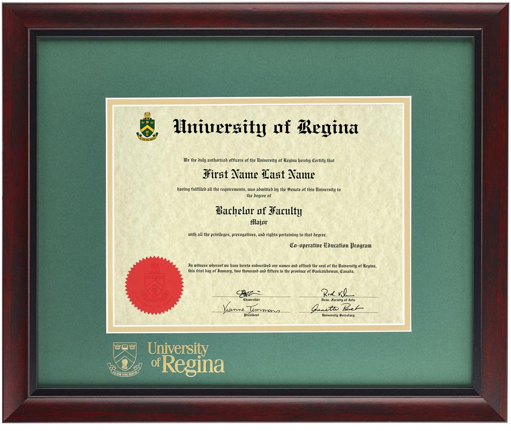 University of Regina Diploma Frames – Diploma Frames Online Store