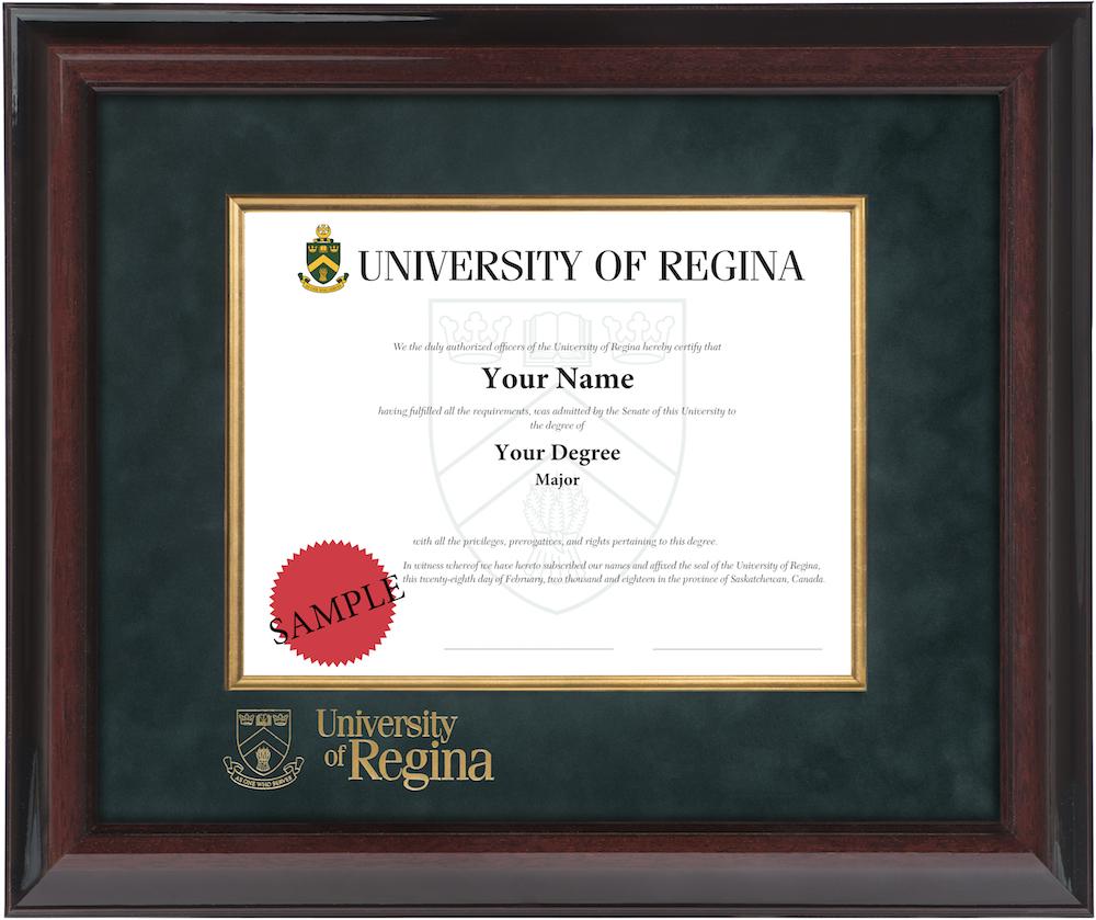 Executive Deluxe Diploma Frame – University of Regina Diploma Frames