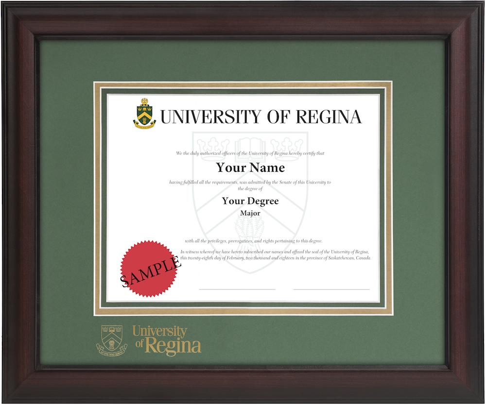 Verona Diploma Frame – University of Regina Diploma Frames